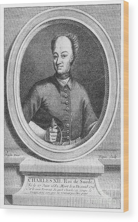 18th Century Wood Print featuring the photograph Charles Xii Of Sweden by Granger