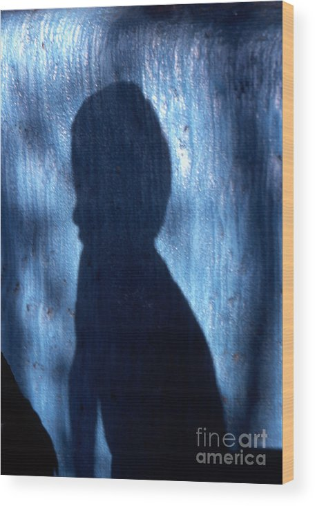 Shadow Wood Print featuring the photograph Shadow by Barry Shaffer