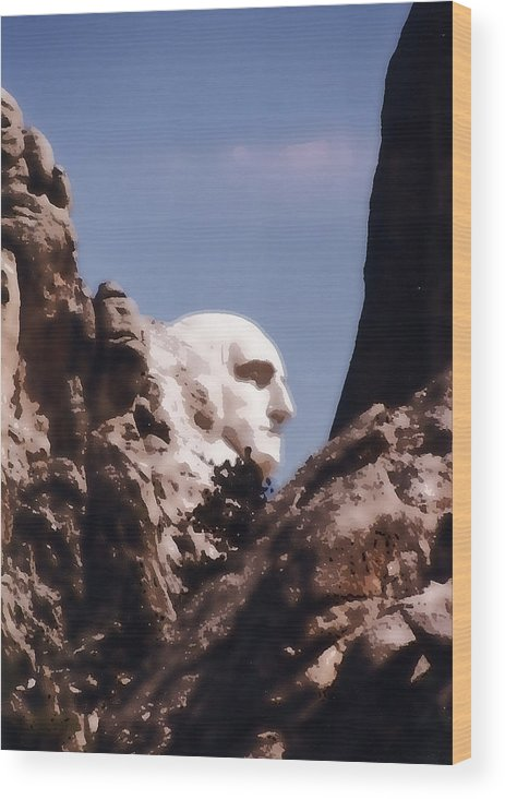 George Wood Print featuring the photograph The Country's Father by Jerry Hellinga