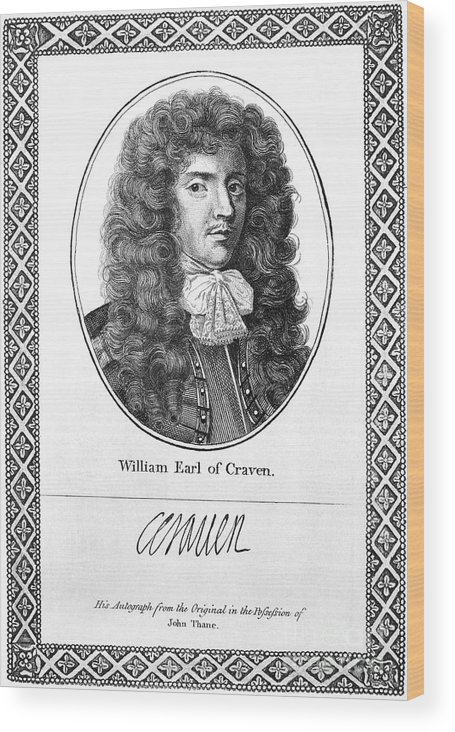 1st Wood Print featuring the photograph William Craven (1608-1697) by Granger