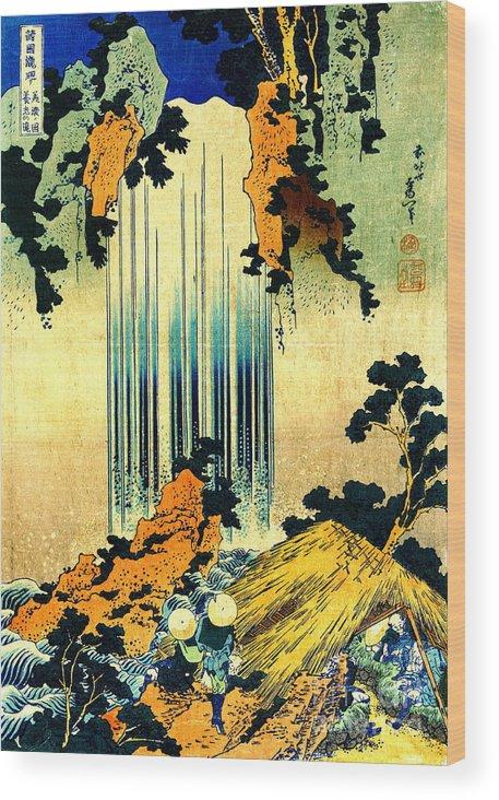 Yoro Waterfall In Mino 1833 Wood Print featuring the photograph Yoro Waterfall In Mino 1833 by Padre Art
