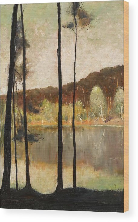 Lesser Ury 1861 - 1931 Grunewald Wood Print featuring the painting Grunewald by MotionAge Designs