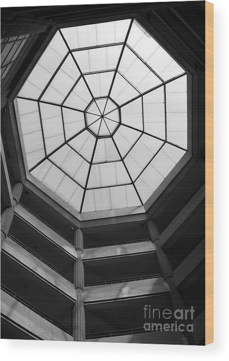 Octagon Wood Print featuring the photograph Octagon Skylight by Yali Shi