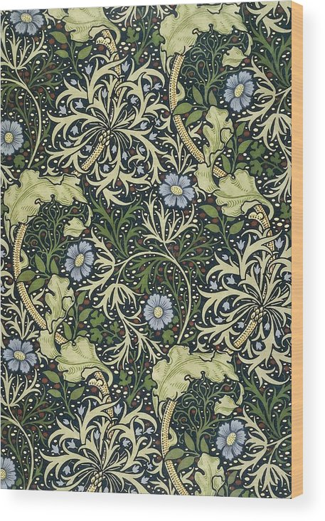 William Morris Wood Print featuring the painting Seaweed Pattern by William Morris