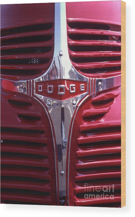 Dodge Wood Print featuring the photograph 1938 Dodge Pickup Front End by Anna Lisa Yoder