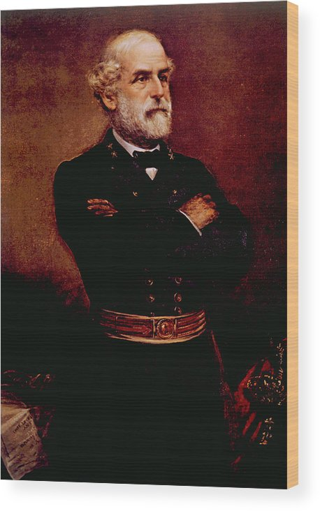 19th Century Portrait Wood Print featuring the photograph General Robert E. Lee 1807-1870 by Everett