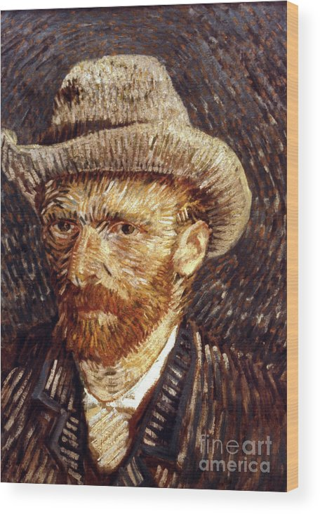 1887 Wood Print featuring the photograph Vincent Van Gogh by Granger