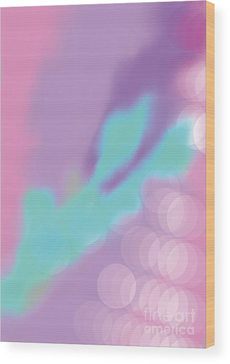 Electronic Light Wood Print featuring the digital art A Perfect Day by Heather Hennick
