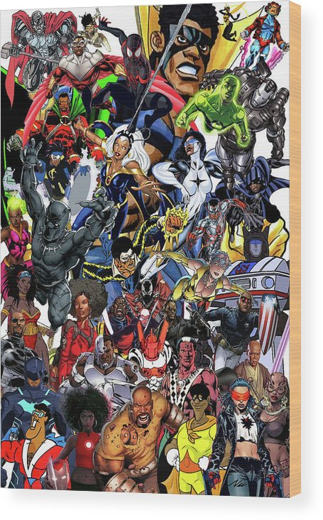 Black Heroes Matter Wood Print featuring the mixed media Black Heroes Matter by Nic The Artist