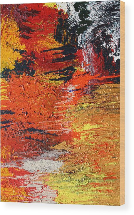 Fusionart Wood Print featuring the painting Chasm by Ralph White