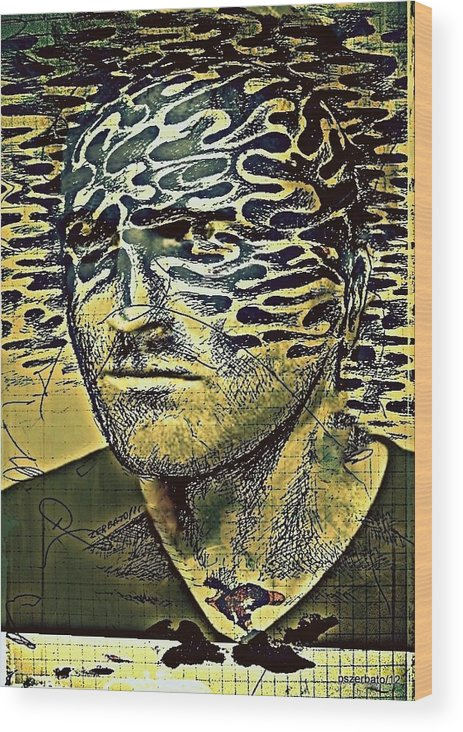 Cognitive Distortions Wood Print featuring the digital art Cognitive Distortions by Paulo Zerbato