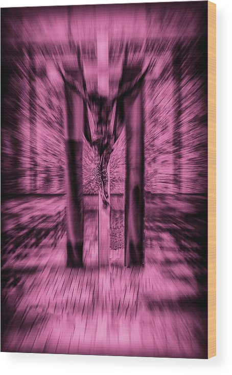 Wood Print featuring the photograph Crucified by Joseph Hollingsworth