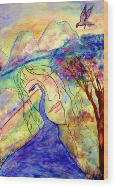 Spirituality Wood Print featuring the painting Cry Me A River by Robin Monroe