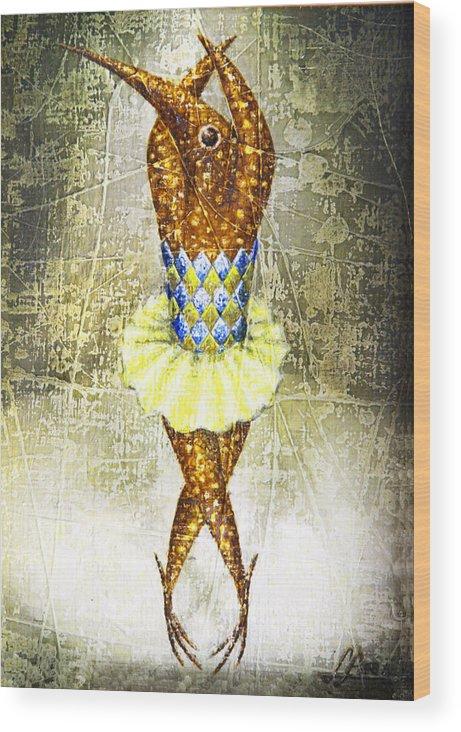 Ballerina Wood Print featuring the painting Dancer 2 by Lolita Bronzini