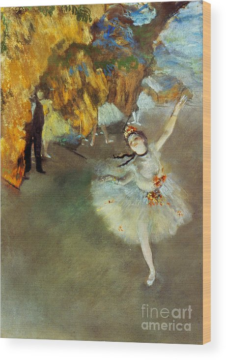 19th Century Wood Print featuring the photograph Degas Star, 1876-77. To License For Professional Use Visit Granger.com by Granger