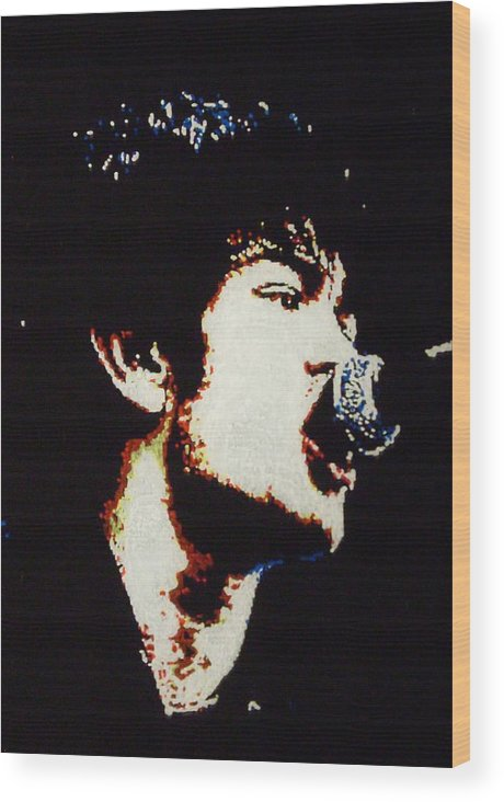 Sum 41 Wood Print featuring the painting Derrick Whibley by Grant Van Driest