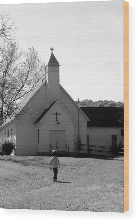 Wood Print featuring the photograph E-to-the-church by Curtis J Neeley Jr