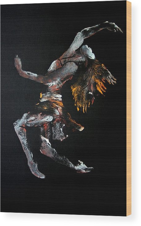 Dancer Wood Print featuring the painting Ecstasy by Ana Bikic