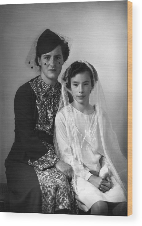 First Communion Wood Print featuring the photograph First Communion And Mom by Seely Studio