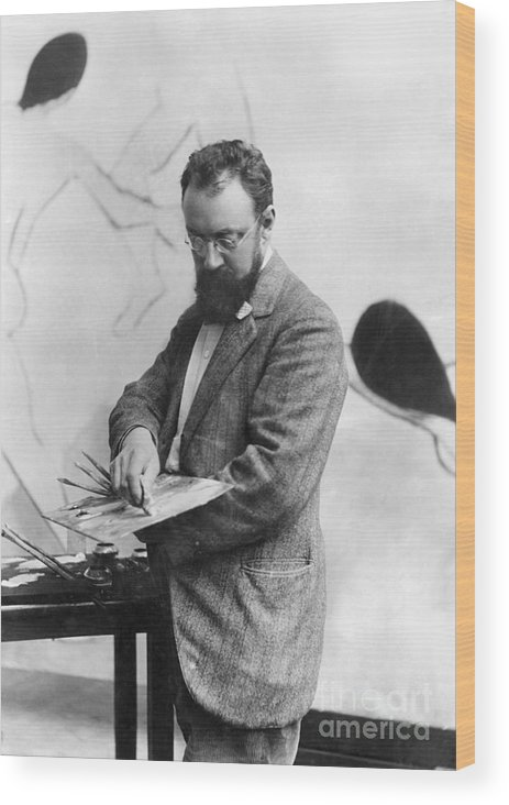 19th Century Wood Print featuring the photograph Henri Matisse (1869-1954) by Granger