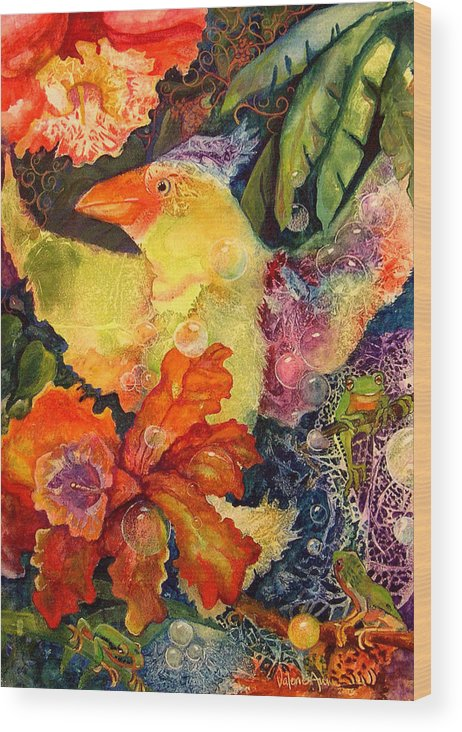 Bird Wood Print featuring the painting Holiday by Valerie Aune