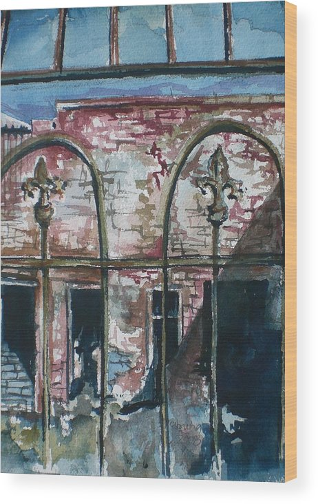 Jerome Wood Print featuring the painting Jerome Ruins by Aleksandra Buha