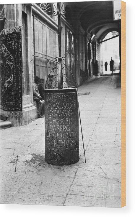 10th Wood Print featuring the photograph Jerusalem: Roman Pillar by Granger