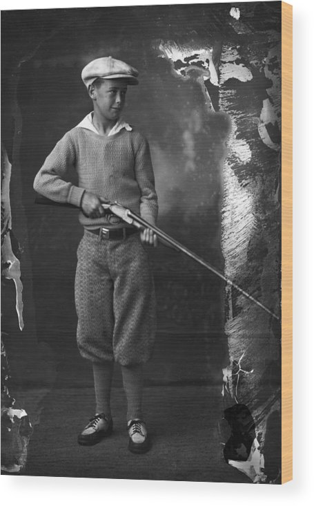 Shotgun Wood Print featuring the photograph Knickerbockers And Shotgun by Seely Studio
