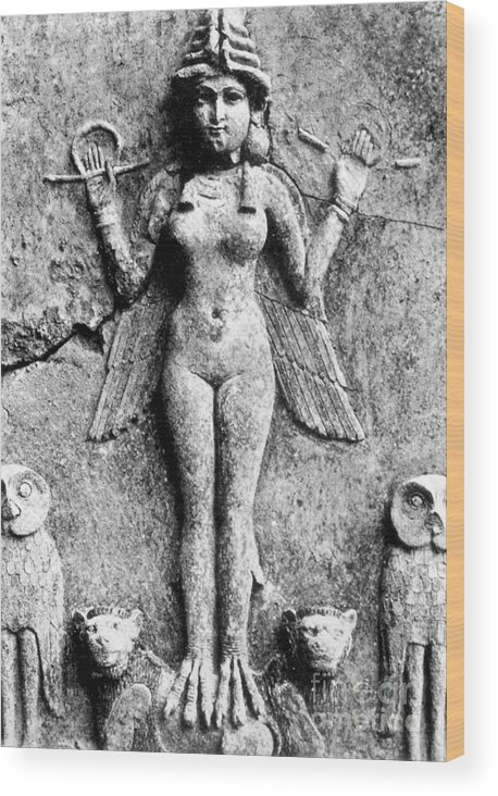 1st Wood Print featuring the photograph Lilith, C1950 B.c by Granger