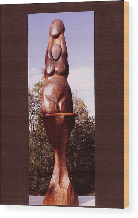 Moon Wood Print featuring the photograph Moon Goddess by Eric Singleton