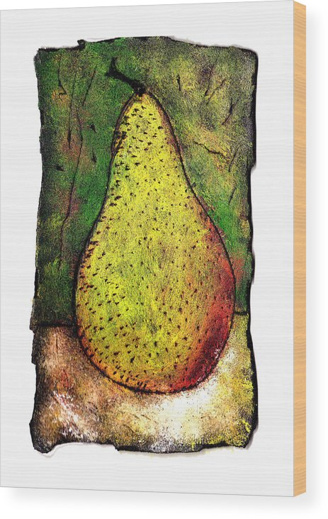 Pear Wood Print featuring the painting My Favorite Pear One by Wayne Potrafka
