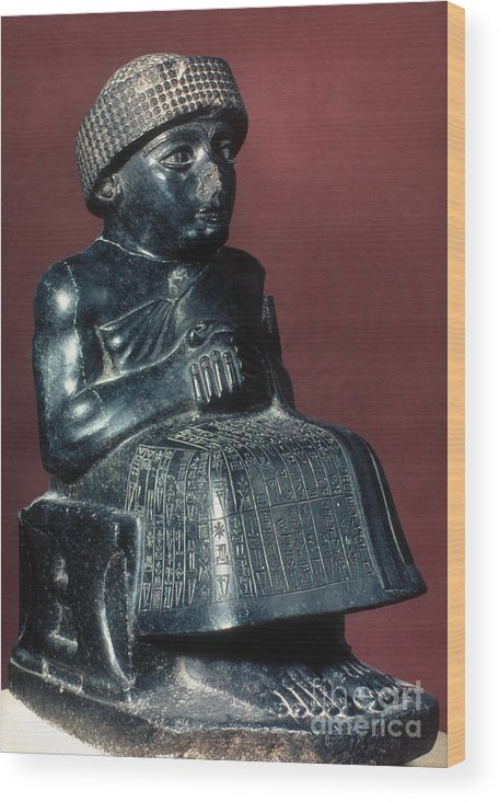 2150 B.c. Wood Print featuring the photograph Neo-sumerian Prince Gudea by Granger
