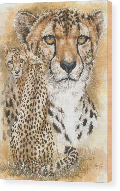 Cheetah Wood Print featuring the mixed media Nimble by Barbara Keith