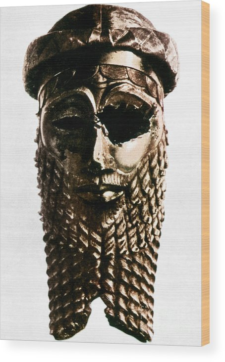 2350 B.c. Wood Print featuring the photograph Nineveh: Bronze Head by Granger