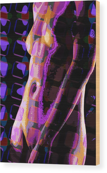 Nude Wood Print featuring the digital art Nude 12 by Scott Davis