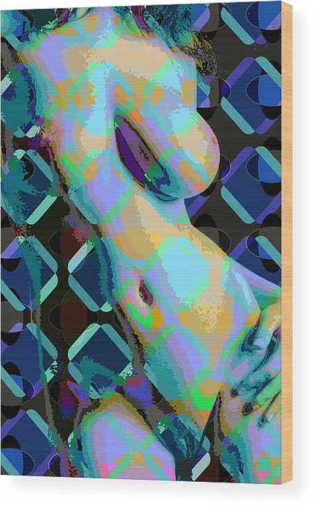 Nude Wood Print featuring the digital art Nude 18 by Scott Davis