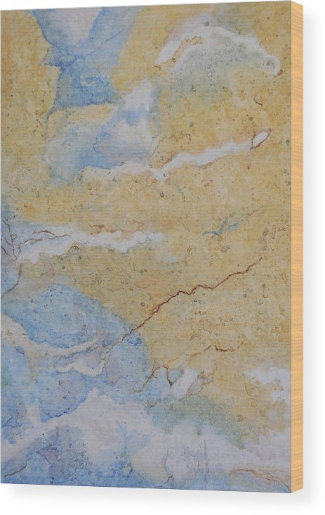 Abstract Wood Print featuring the painting On Earth As In Heaven by Craig Gallaway