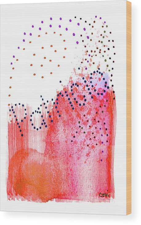 Abstract Wood Print featuring the painting Patricia 2 by Corinne Carroll