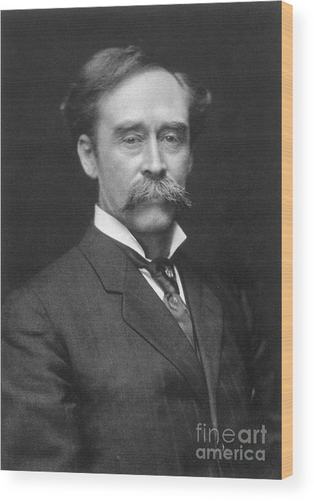 1910s Wood Print featuring the painting Robert Peary (1856-1920) by Granger