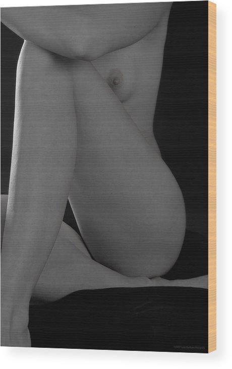 Nude Wood Print featuring the photograph Roberta by Luigi Barbano BARBANO LLC