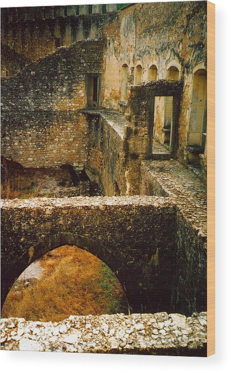 Portugal Wood Print featuring the photograph Ruins by Andrea Simon