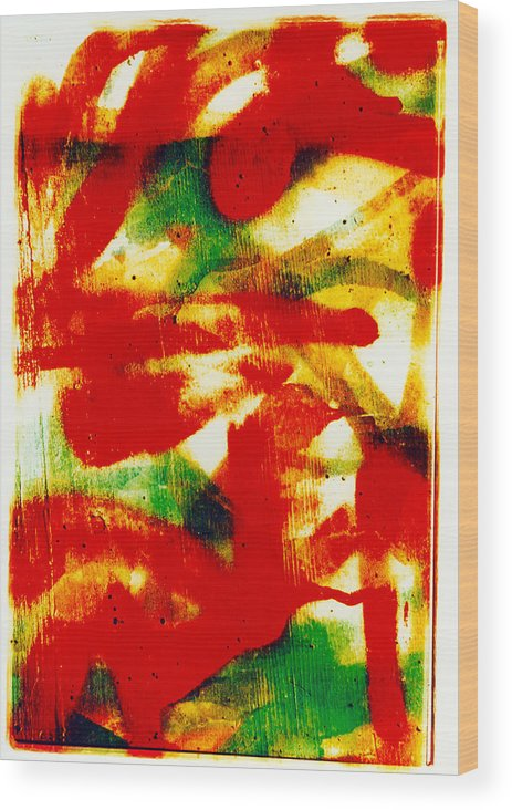 Abstract Wood Print featuring the photograph Salsa by David Rivas