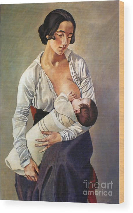 1916 Wood Print featuring the photograph Severini: Maternity, 1916 by Granger