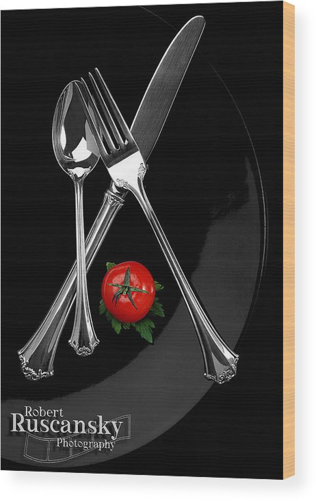 Product Sliverware Wood Print featuring the photograph Silverware by Robert Ruscansky