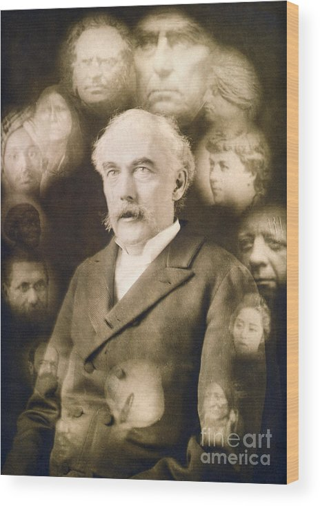 1901 Wood Print featuring the photograph Spirit Photograph, C1901 by Granger
