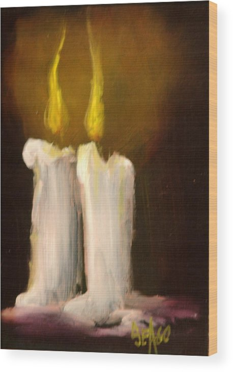 Light Wood Print featuring the painting Spirits Bright by Sally Seago