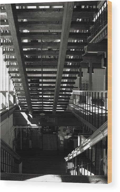 Bw Wood Print featuring the photograph Stairways by Joanne Coyle