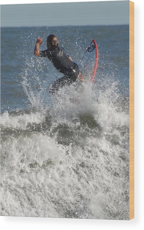 Surfer Art Wood Print featuring the photograph Surfing 92 by Joyce StJames