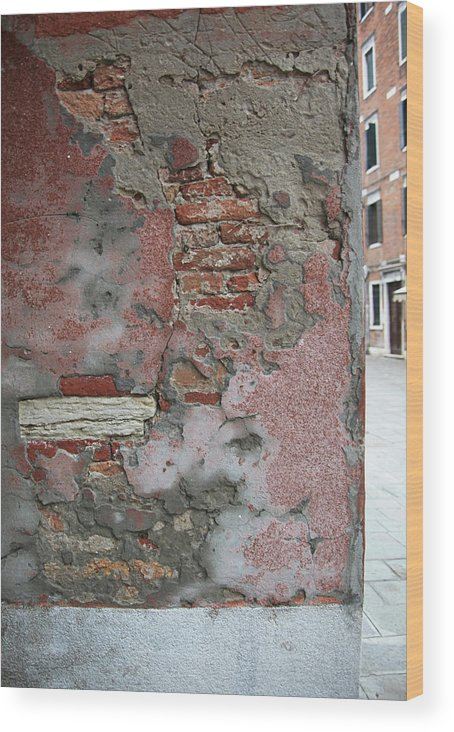 Venice Wood Print featuring the photograph The Walls Of Venice by Guy Ciarcia