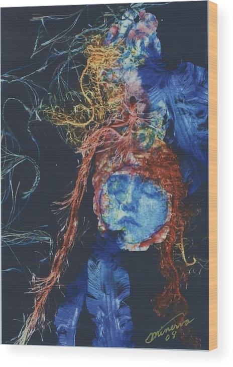 Dream Wood Print featuring the mixed media To Sleep Is To Dream by Cathy Minerva